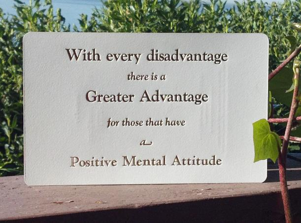 how to keep a positive mental attitude